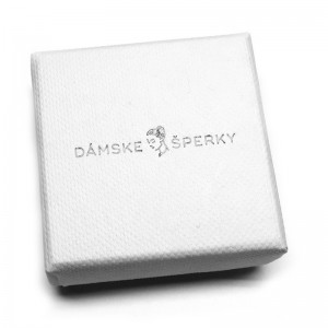 Biela darčeková krabička na súpravy, prívesky s retiazkou a brošne