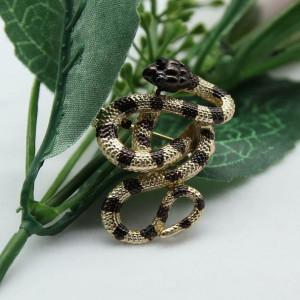Zlatá brošňa had