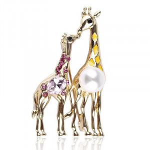 Zlatá brošňa žirafy