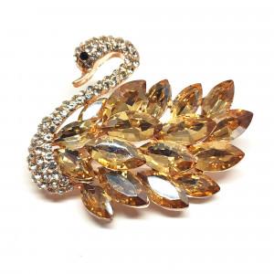 Zlatá brošňa Labuť