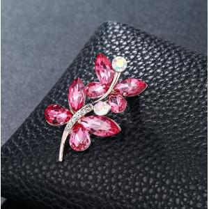Strieborná brošňa Blossom