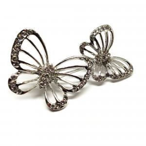 Strieborná brošňa veselé motýliky