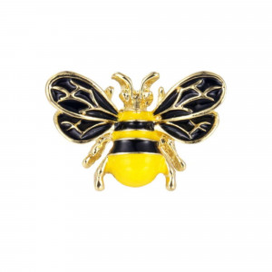 Pozlátená brošňa včielka